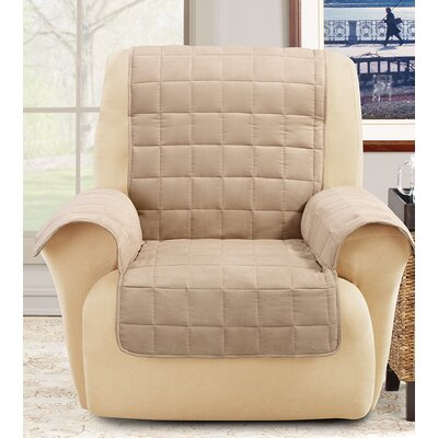 Box Cushion Recliner Slipcover Color: Taupe
