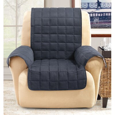 Box Cushion Recliner Slipcover Color: Storm Blue