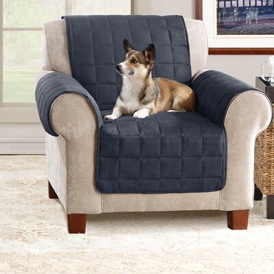 Armchair Slipcover Color: Storm Blue