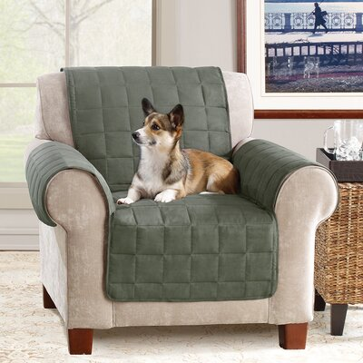 Box Cushion Armchair Slipcover Color: Loden