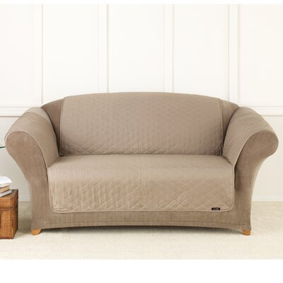 Furniture Friend Box Cushion Loveseat Slipcover Color: Linen