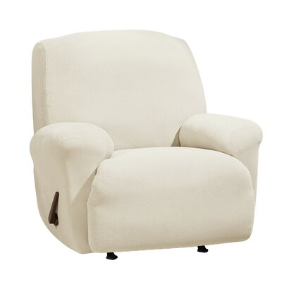Stretch Morgan T-Cushion Recliner Slipcover Color: Ivory