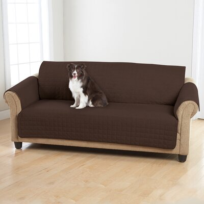 Box Cushion Sofa Slipcover Color: Warm Chocolate