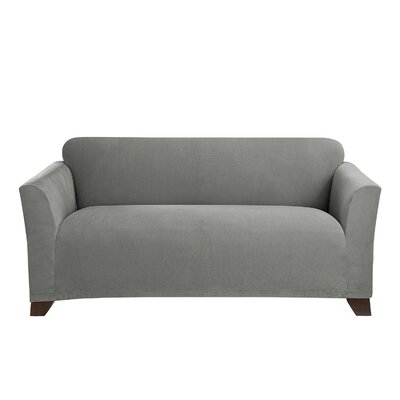 Stretch Morgan Box Cushion Loveseat Slipcover Color: Gray