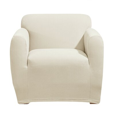 Stretch Morgan Box Cushion Armchair Slipcover Color: Ivory