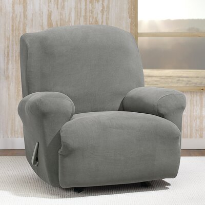 Stretch Morgan T-Cushion Recliner Slipcover Color: Gray