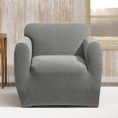 Stretch Morgan Box Cushion Armchair Slipcover Color: Gray