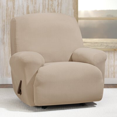 Stretch Morgan T-Cushion Recliner Slipcover Color: Khaki