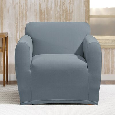 Stretch Morgan Box Cushion Armchair Slipcover Color: Storm Blue