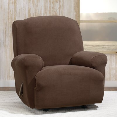 Stretch Morgan T-Cushion Recliner Slipcover Color: Chocolate