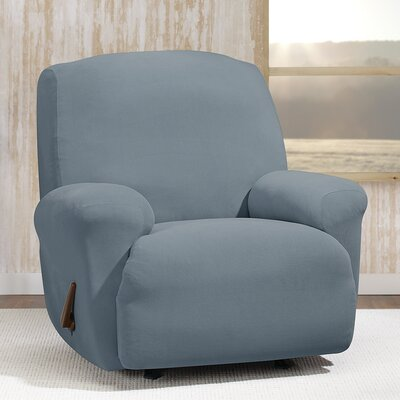 Stretch Morgan T-Cushion Recliner Slipcover Color: Storm Blue