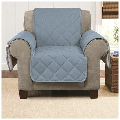 Denim Sherpa Armchair Slipcover