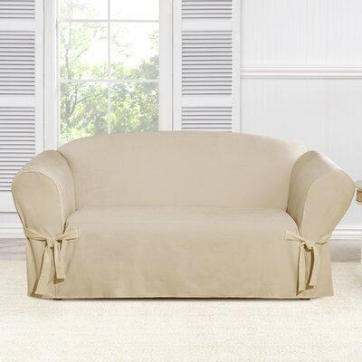 Everyday Chenille Loveseat Skirted Slipcover Color: Tan