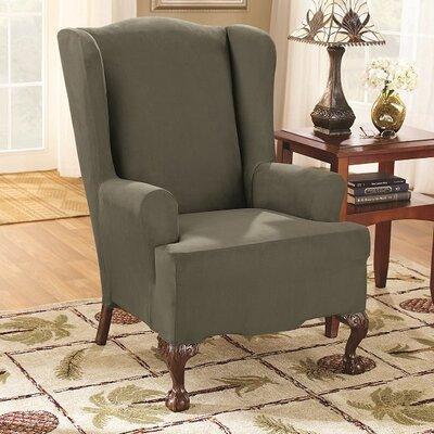Wingchair Slipcover Color: Dark Green