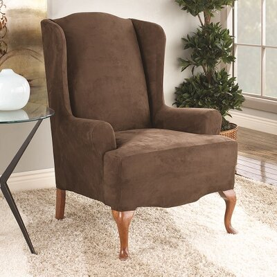 Wingchair Slipcover Color: Chocolate