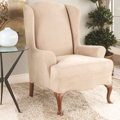 T-Cushion Wingback Slipcover Color: Taupe