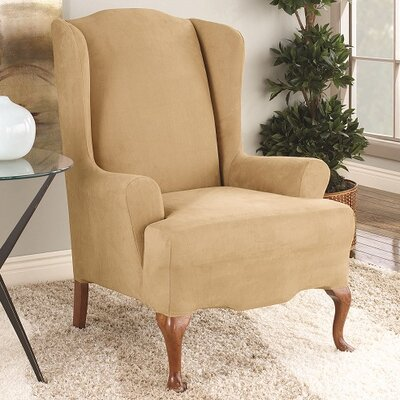 T-Cushion Wingback Slipcover Color: Camel