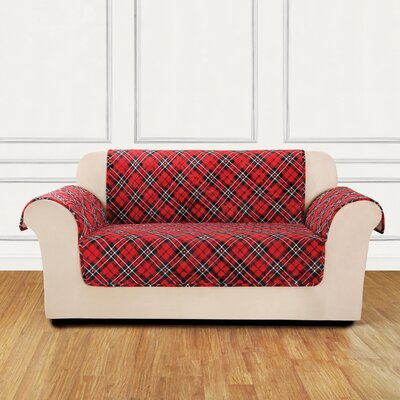 Lodge Box Cushion Loveseat Slipcover