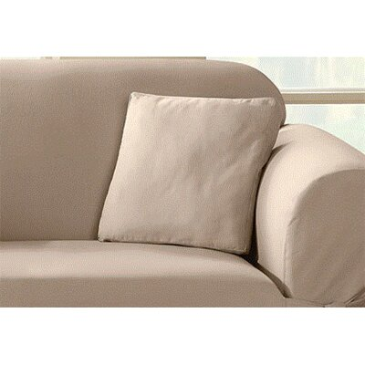 Duck Solid T-Cushion Slipcover Color: Linen