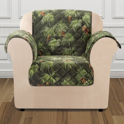 Lodge Box Cushion Armchair Slipcover Color: Evergreen