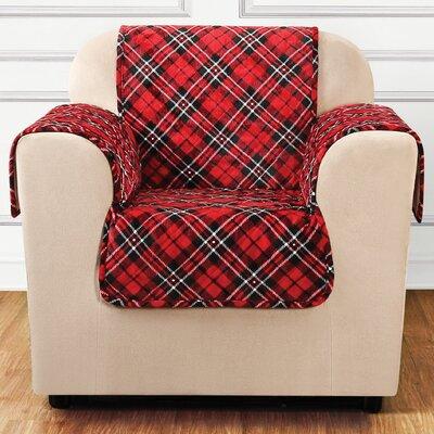 Lodge Tartan Plaid Box Cushion Armchair Slipcover