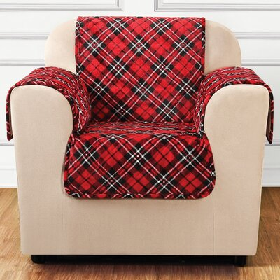 Lodge Tartan Plaid Armchair Slipcover