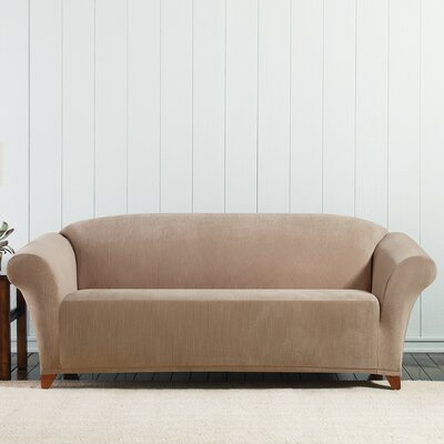 Stretch Corduroy Sofa Slipcover Color: Beach House Tan