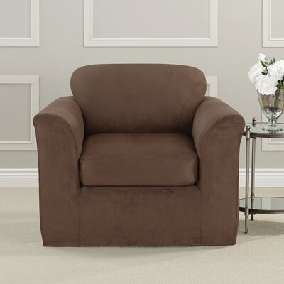Ultimate Heavyweight Stretch Suede Armchair Slipcover