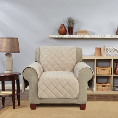 Comfort Armchair T-Cushion Slipcover Color: Taupe