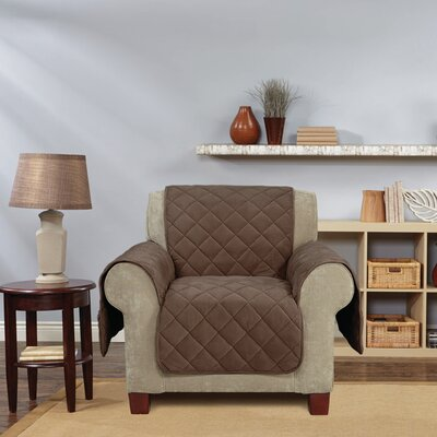 Comfort Armchair T-Cushion Slipcover Color: Chocolate