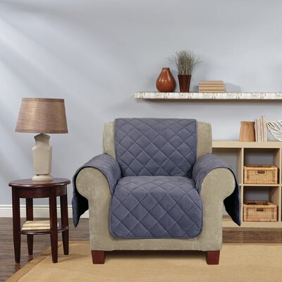 Comfort Armchair T-Cushion Slipcover Color: Storm Blue