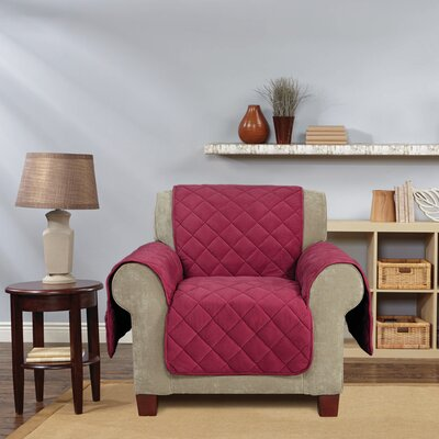 Comfort Armchair T-Cushion Slipcover Color: Burgundy