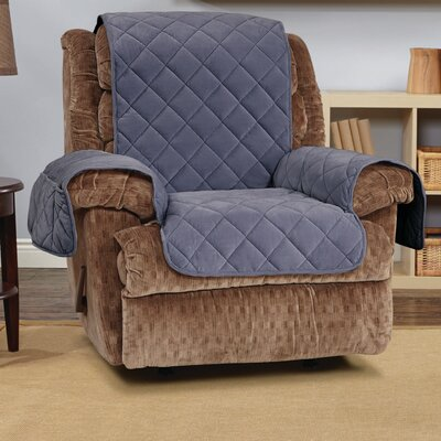 Comfort Recliner T-Cushion Slipcover Color: Storm Blue