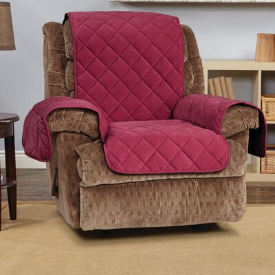 Comfort Recliner T-Cushion Slipcover Color: Burgundy