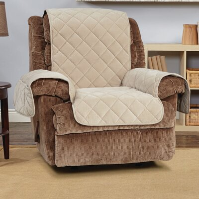 Comfort Recliner T-Cushion Slipcover Color: Taupe