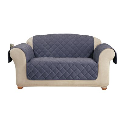 Comfort Loveseat T-Cushion Slipcover Color: Storm Blue