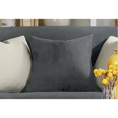 Stretch Suede Pillow Box Cushion Slipcover Color: Carbon