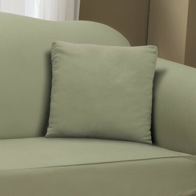 Duck Solid Pillow Slipcover Color: Sage