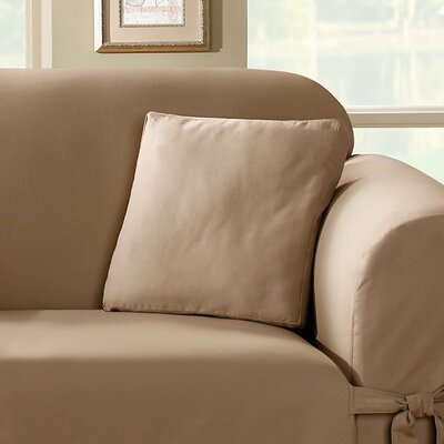 Duck Solid Pillow Slipcover Color: Cocoa