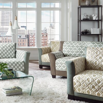 Furniture Flair Flash Box Cushion Loveseat Slipcover