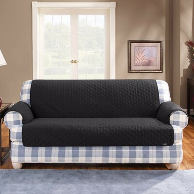 Cotton Duck Sofa Slipcover Upholstery: Black