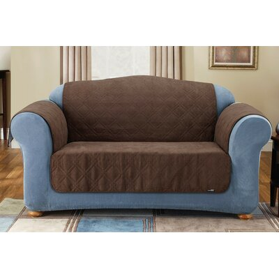 Soft Suede Furniture Friend Sofa Cover Upholstery: Chocolate