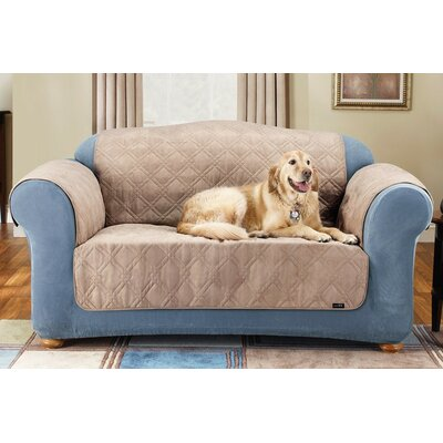 Soft Suede Furniture Friend Sofa Cover Upholstery: Taupe