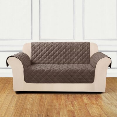 Quilted Pet Box Cushion Loveseat Slipcover Color: Cocoa
