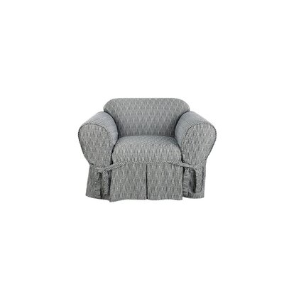 Strand Waverly Box Cushion Armchair Slipcover Color: Charcoal