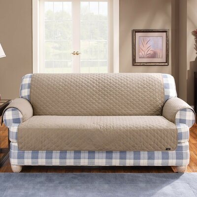 Cotton Duck Furniture Friend Box Cushion Loveseat Slipcover Upholstery: Linen