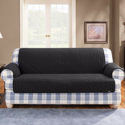 Cotton Duck Furniture Friend Loveseat Cover Upholstery: Black