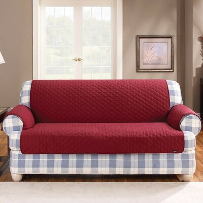 Cotton Duck Furniture Friend Box Cushion Loveseat Slipcover Upholstery: Claret