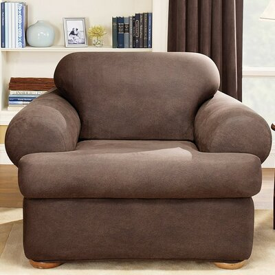 Stretch Leather Chair T-Cushion Slipcover