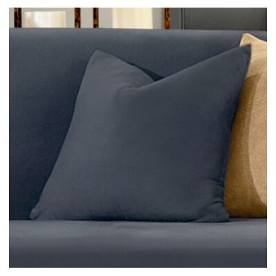 Stretch Suede Pillow Box Cushion Slipcover Color: Storm Blue
